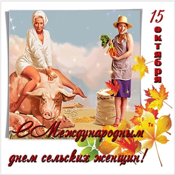 Сельская женщина открытка