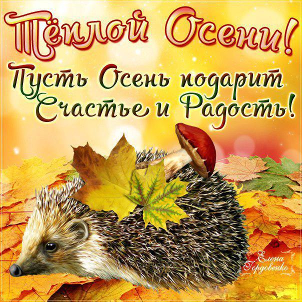 Осенние поздравления к осенним праздниками