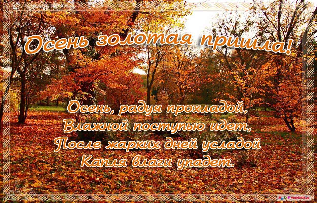 Картинка осень с поздравлением